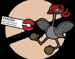 Fake Pokemon: Ostrike by Sageroot