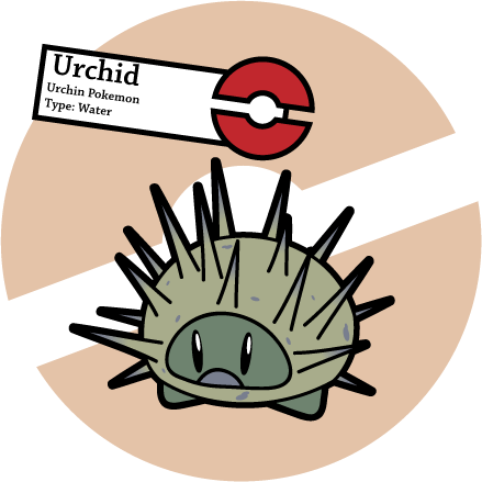 Fake Pokemon: Urchid by Sageroot