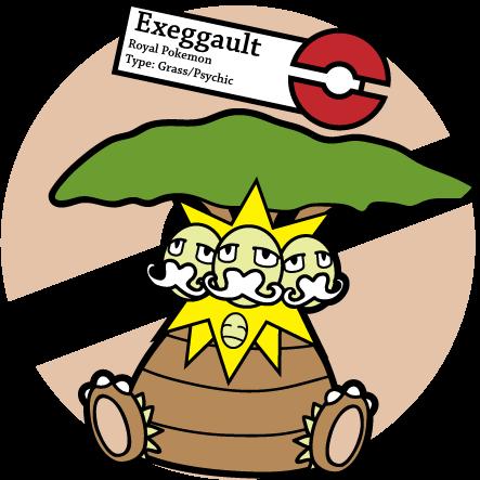 Fake Pokemon: Exeggault by Sageroot