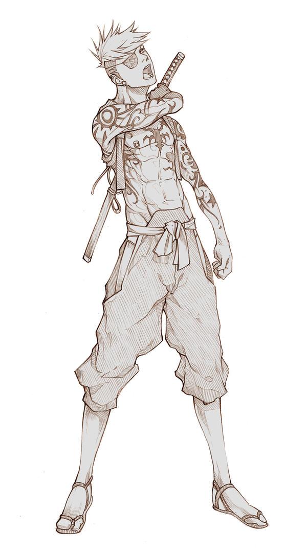 Commissh - Hajime Riichi by MizaelTengu