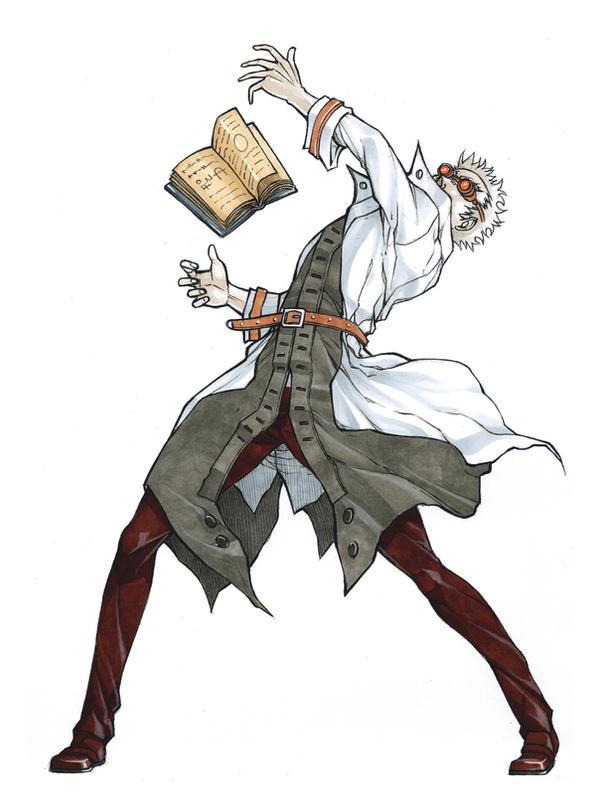 mad Scientist full body by MizaelTengu