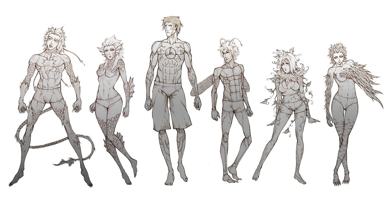 Commissh - T.M races. by MizaelTengu
