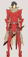 Crimson Knight - concept by MizaelTengu
