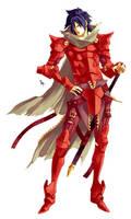 The Crimson Knight - OC by MizaelTengu