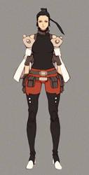 [SOLD] Asian markswoman by MizaelTengu