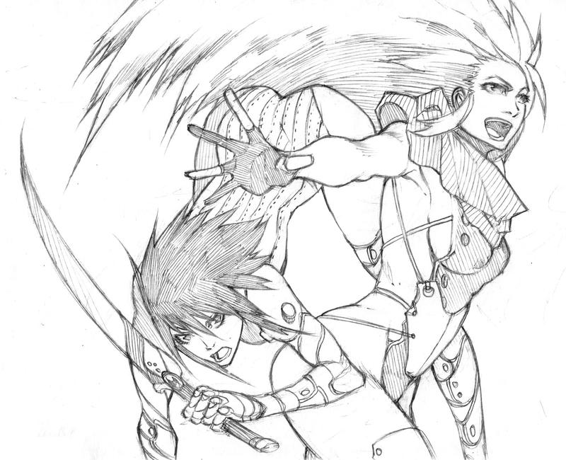 Assassin and Witch by MizaelTengu