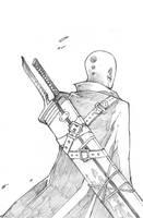 Bald Swordmaster by MizaelTengu
