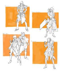 Character drafts #1 by MizaelTengu