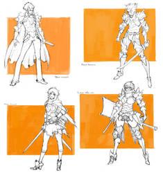 Character drafts #2 by MizaelTengu