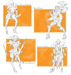 [SOLD OUT] Character drafts #6 by MizaelTengu