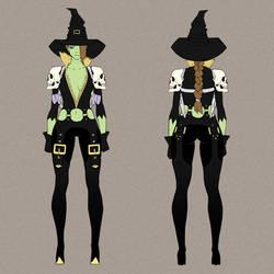 Gunslinger Witch by MizaelTengu