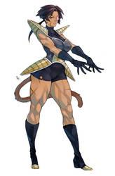 Saiyan Champion by MizaelTengu