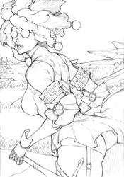 Sketch 15# - Black Ivory Amazon by MizaelTengu