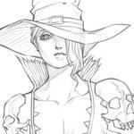 Noliene -  The Witch Gunslinger by MizaelTengu