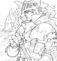 Sketch #31 - A Knight.