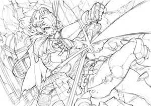 Sketch #32 - Temple Assault