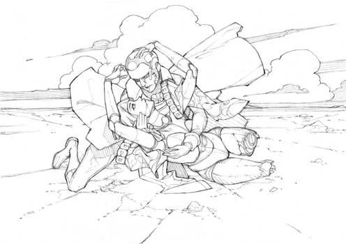Sketch #36 - Akhazel and Aurora