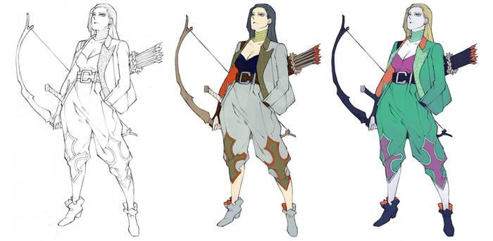 The Archer - Color palttes