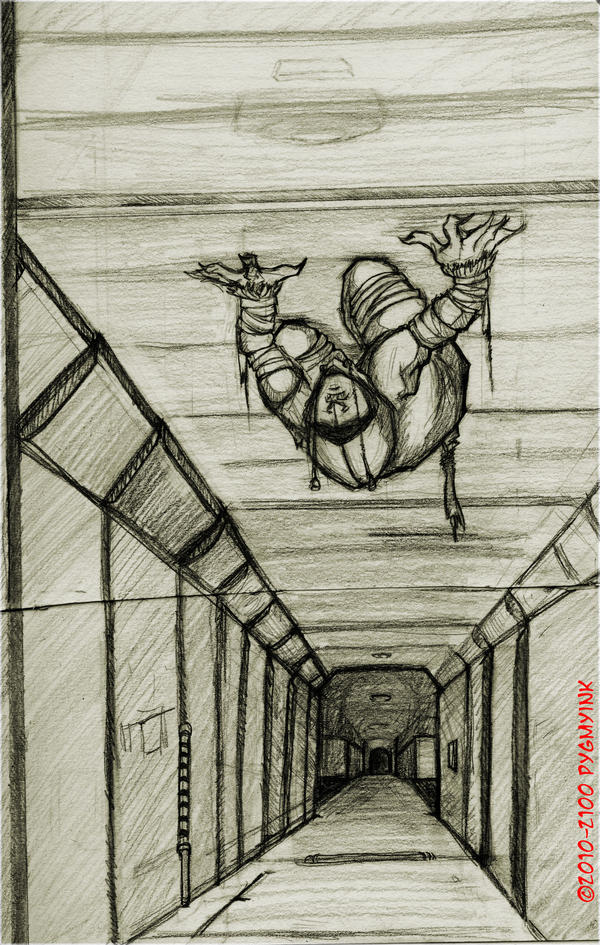 On the ceiling 2nd by Thevakien on DeviantArt
