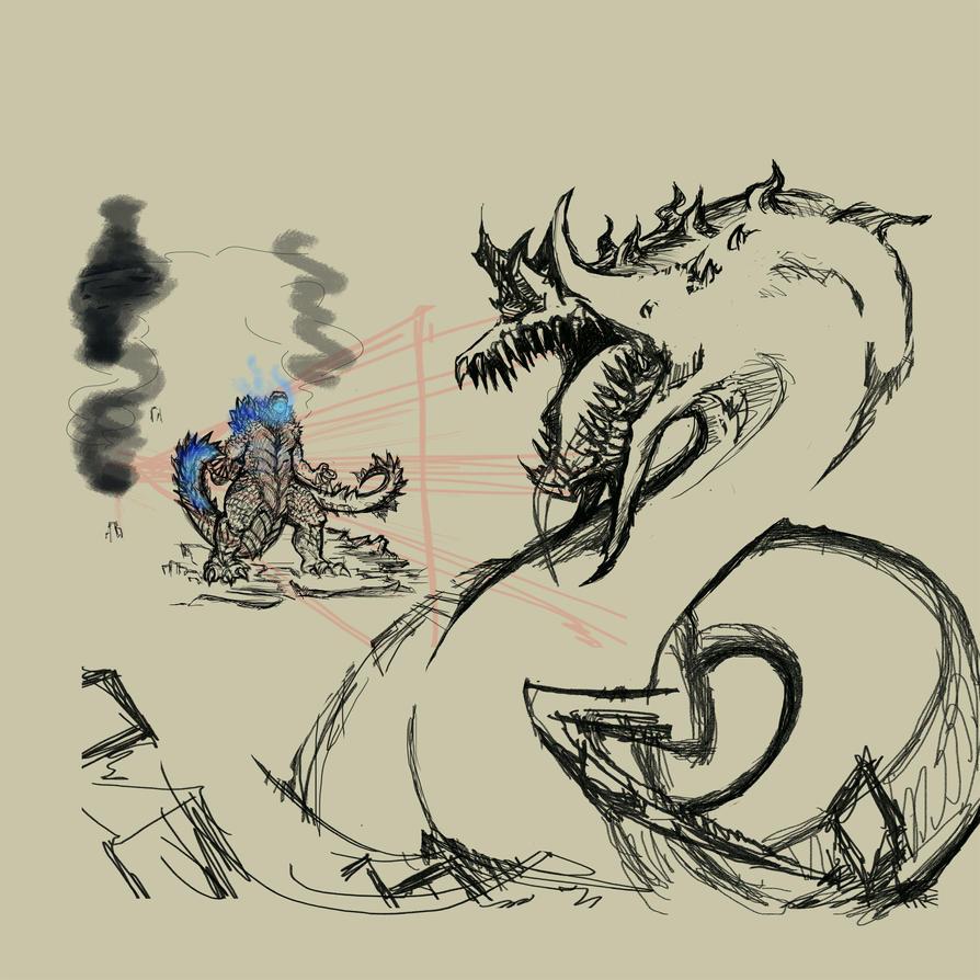 Godzilla WIPXXX by Pygmyink