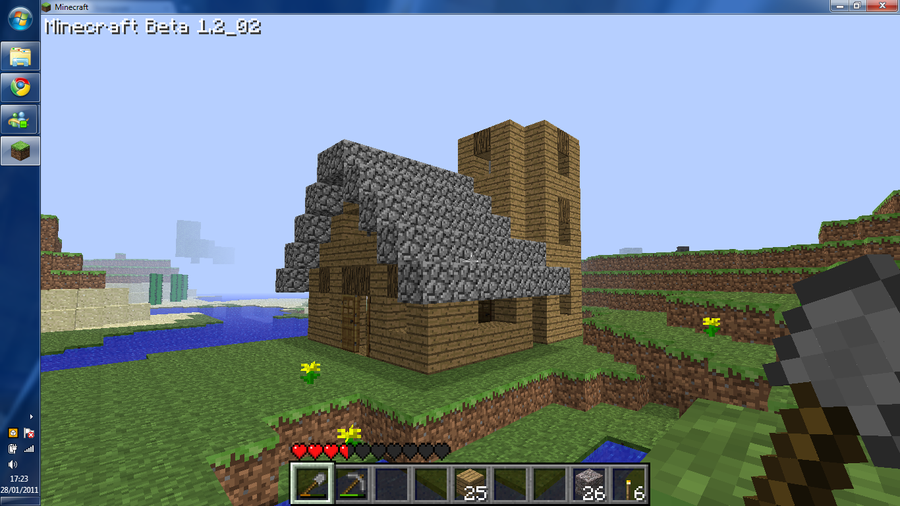 My minecraft house wip by chimp96