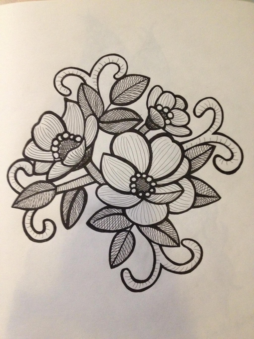 Flower Bouquet Line Drawing : Flower bouquet drawing by stylsvig on deviantart