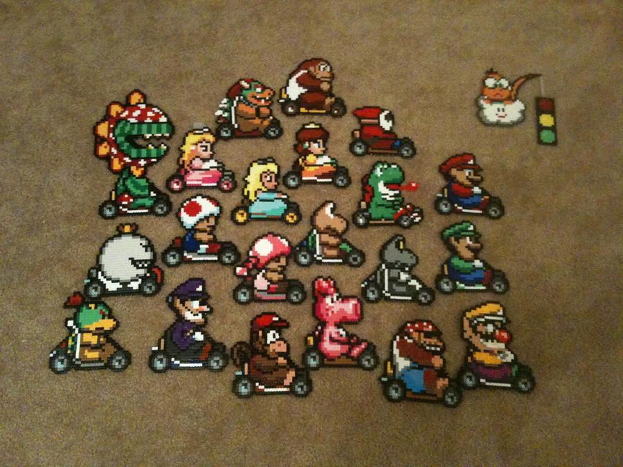 Mario Kart Perler Gang by powerranger02