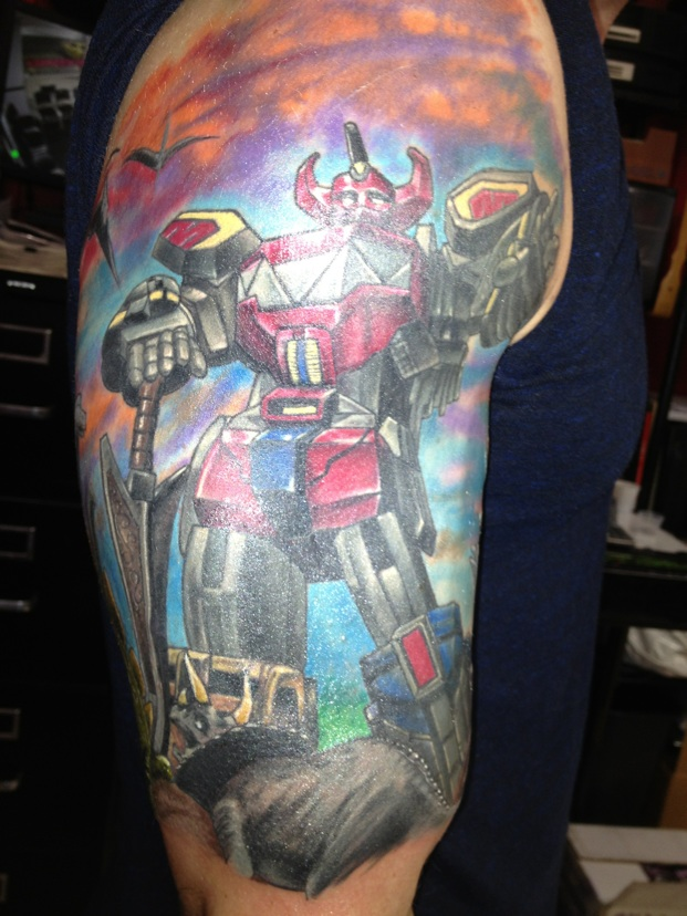 power rangers tattoo half sleeve megazord by powerranger02 on deviantart. Black Bedroom Furniture Sets. Home Design Ideas