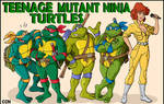 Four Turtles and a Woman