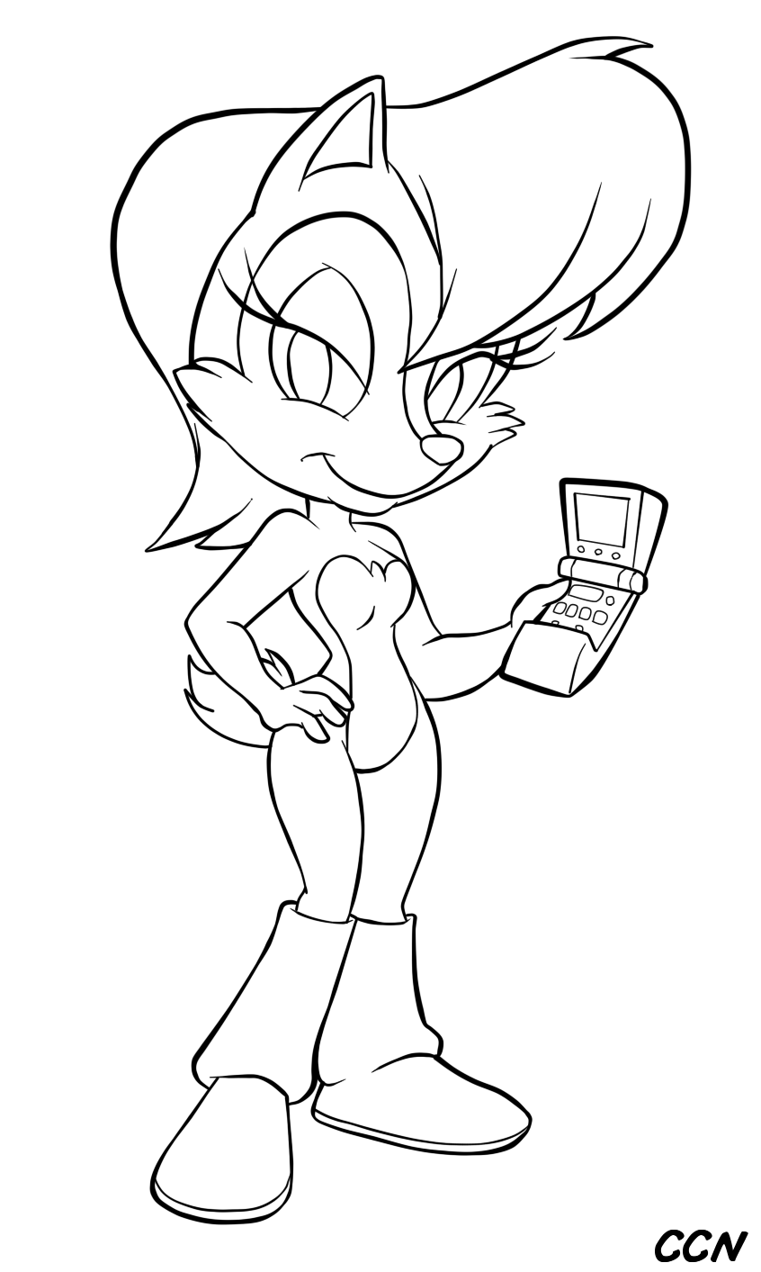 Sally Acorn Coloring Pages Coloring Pages And Sally Coloring Pages