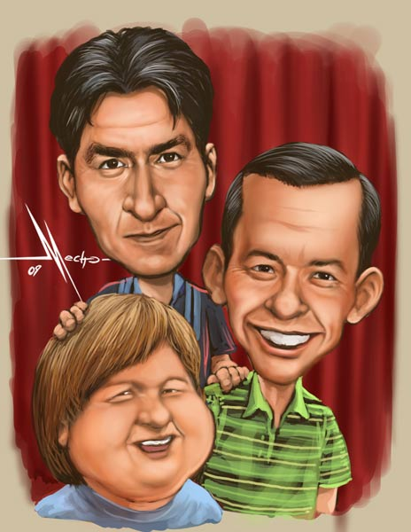 two and a half men by Mecho