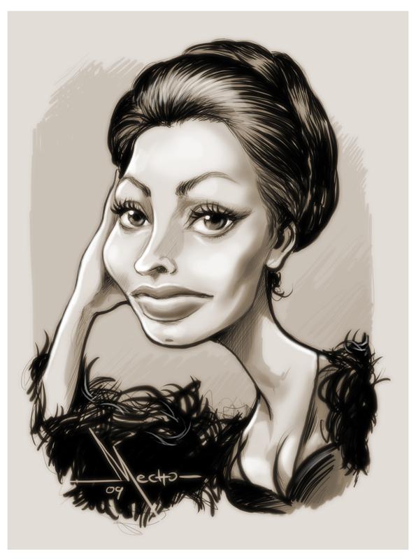 Sophia LOren by Mecho
