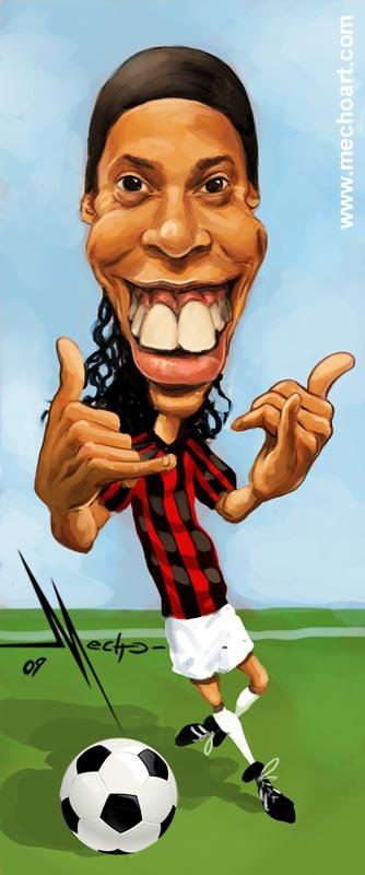 Ronaldinho by Mecho