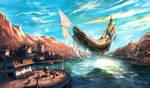 the Flying Ship at docks