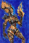Inktober 8- Flame Atronach