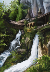 Study of the waterfalls at St. Beatus caves