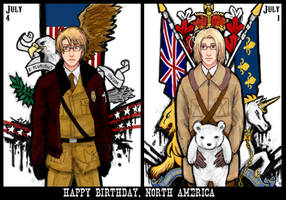 hetalia - july birthdays by lackofsleep