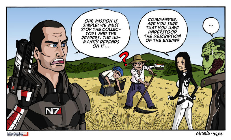 Humorous Vignette Mass Effect 2 by Akatsuya