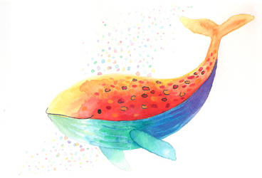 Rainbow whale by NuclearKimchi