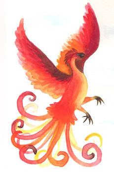 Watercolor Phoenix