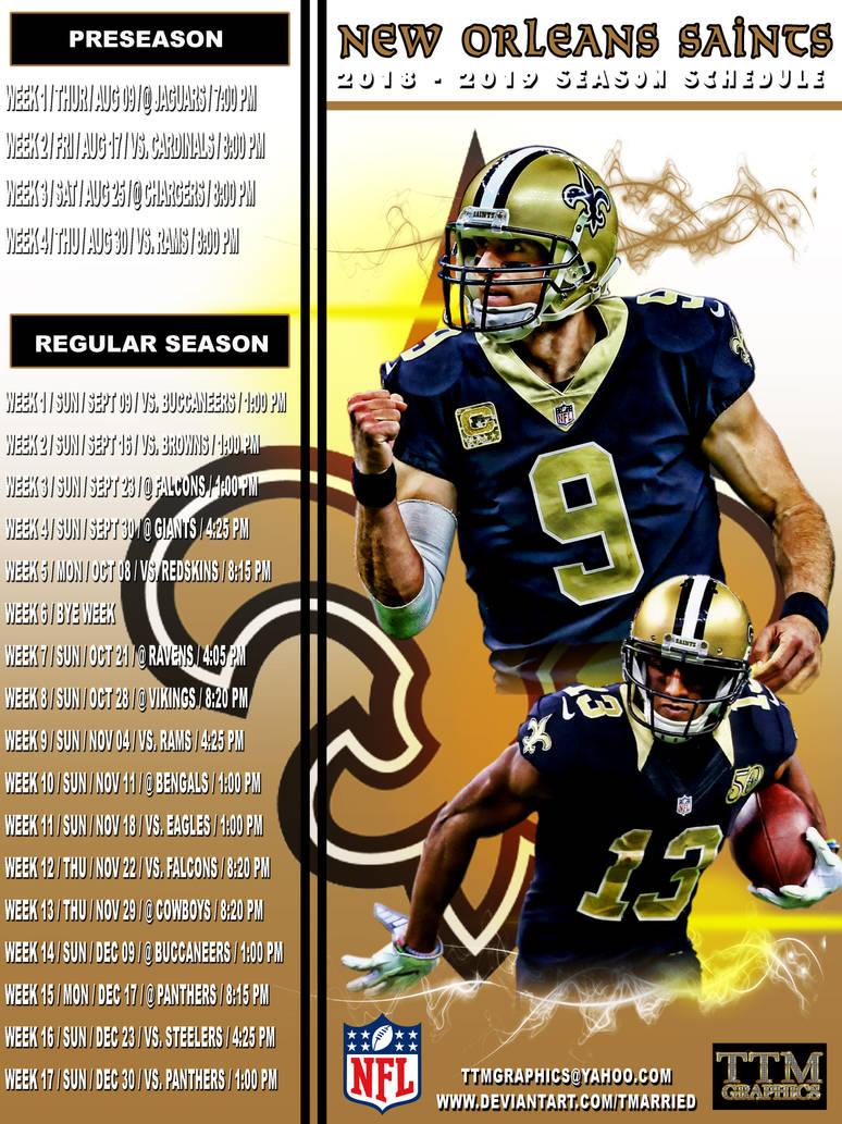 c8d95c6c 2018-2019 Season Schedule (new Orleans Saints) by tmarried on DeviantArt