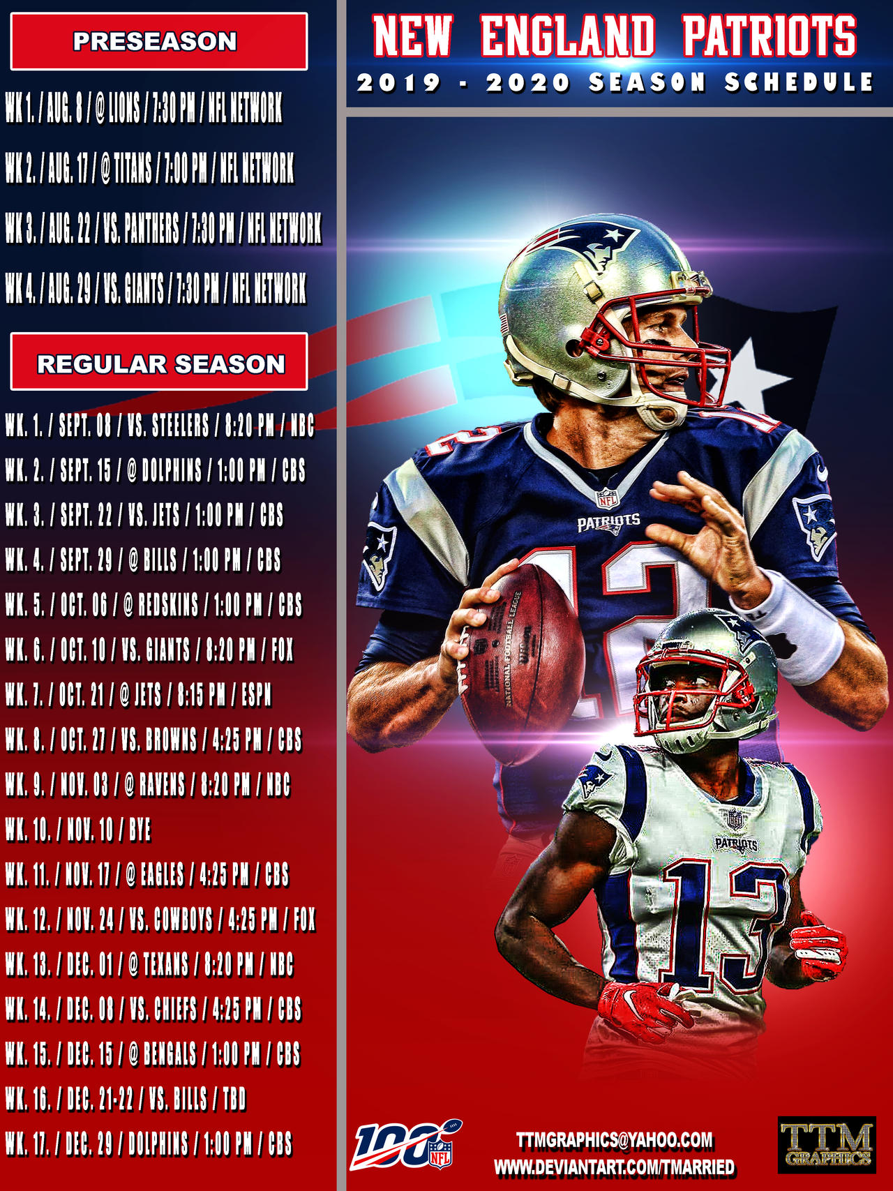 New England Patriots Schedule 2020.2019 2020 Season Schedule New England Patriots By
