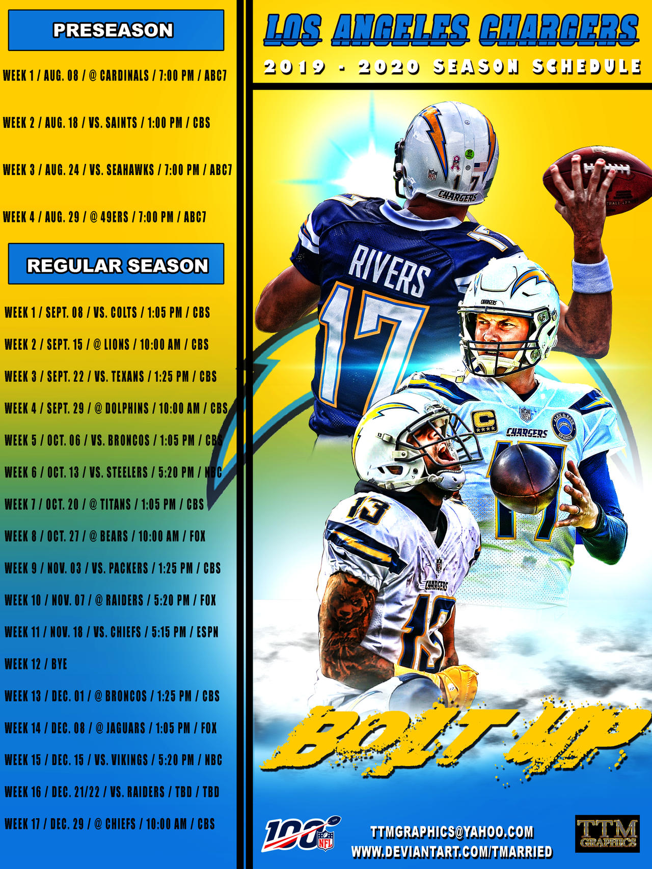 Chargers Schedule 2020.2019 2020 Season Schedule Los Angeles Chargers By
