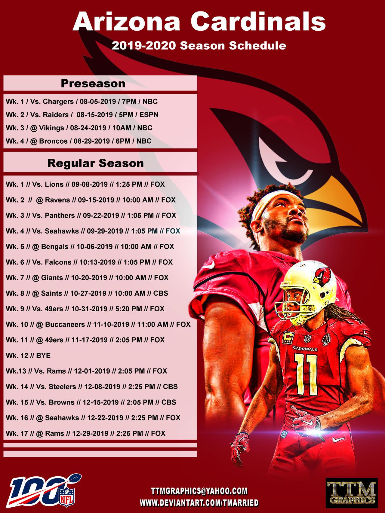 arizona cardinals 2020 schedule