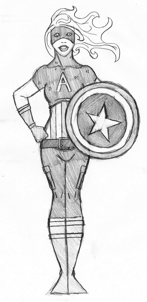 Avengers - Captain America Fem by SamwiseTheAwesome