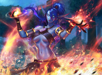 Void Elf Firestorm! Commission by KylePunkArt