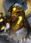 Dragonvault Gold Dragon Card Art