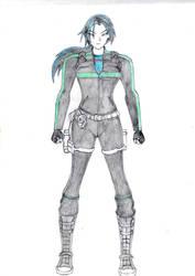 Anime_Lara Croft by ginettegodoy