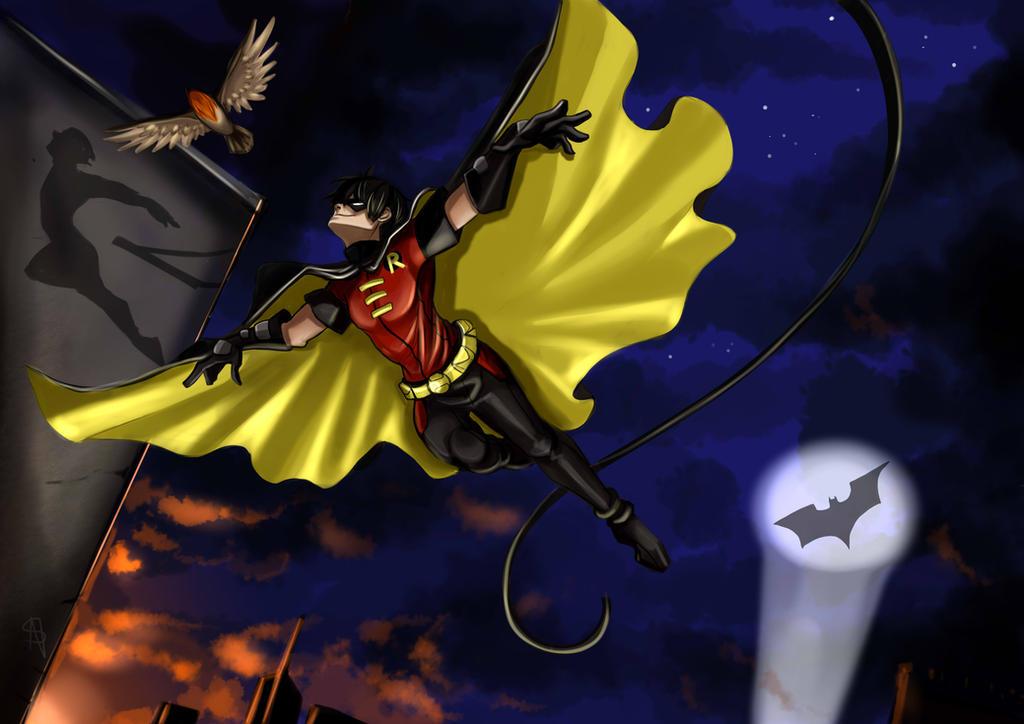Flying Grayson by NakashiOroshu