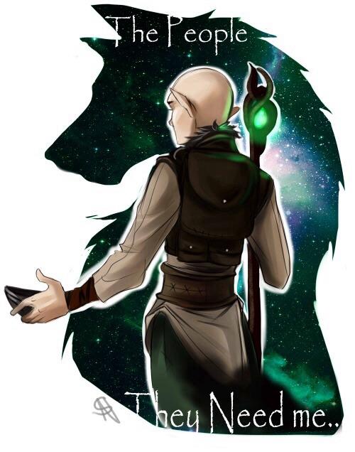 Dragon age inquisition : Solas by NakashiOroshu